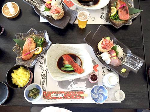 金目鯛の食べ比べ