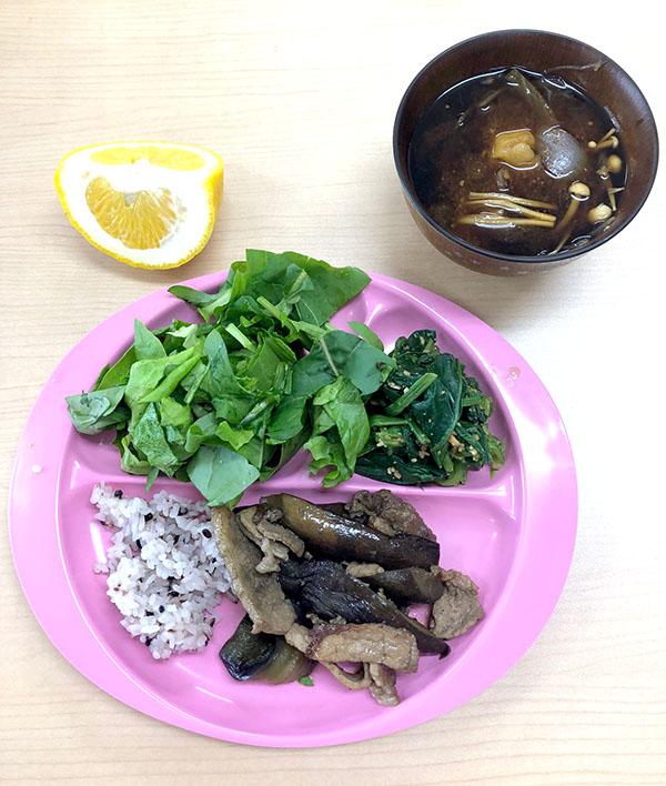茄子と豚肉の炒め物