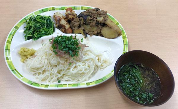8月 素麺